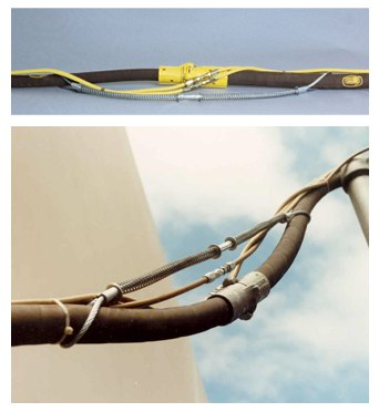 Blast hose safety cable